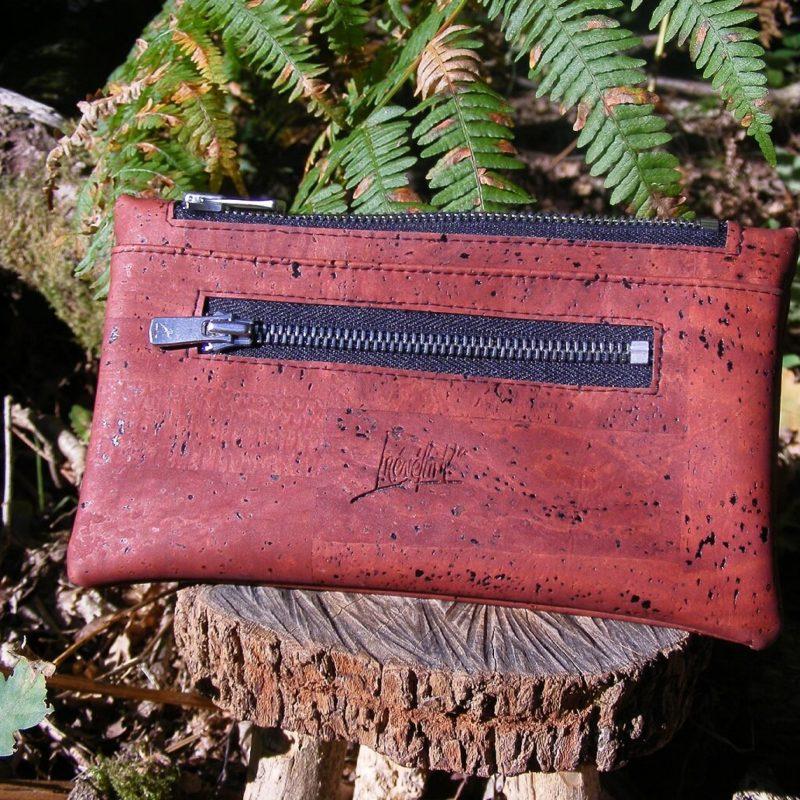Portefeuille FEMKE RB maroquinerie vegan-mode éthique-prtefeuille liège-artisanat-fait en france-pochette en liège-pochette vegan