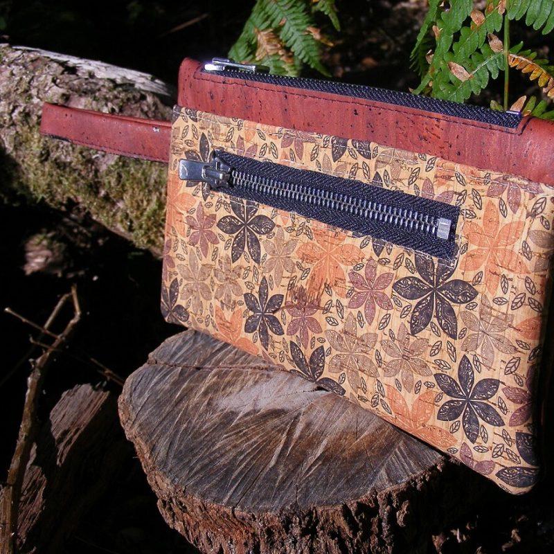 Portefeuille FEMKE bico RB maroquinerie vegan-mode éthique-prtefeuille liège-artisanat-fait en france-pochette en liège-pochette vegan