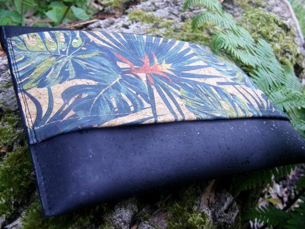 Pochette Scarabée-liège bicolore-FrénéthiK-mode éthique vegan responsable-liège-pochette soirée-cadeau éthique