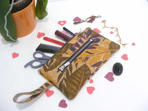 Portefeuille FEMKE maroquinerie vegan-cadeau femme-portefeuille liège-artisanat-fait en france-pochette en liège-pochette vegan