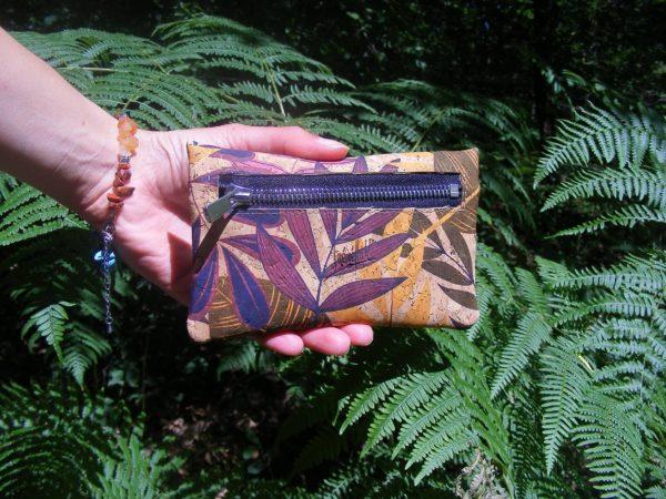Porte monnaie JON-FL1-maroquinerie vegan-mode éthique-cadeau éco responsable-mode durable