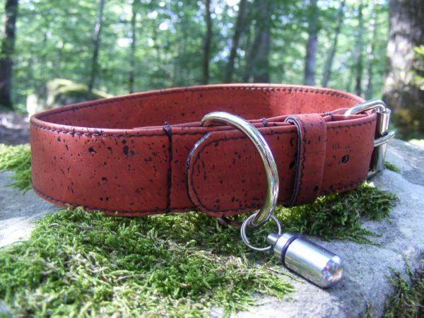 Collier chien vegan-collier liège-artisanat français-collier chien (1)