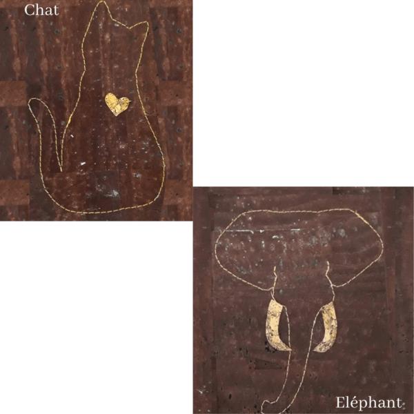 Maroquinerie en liège-vegan-Frénéthik-poche Animal-poche en liège