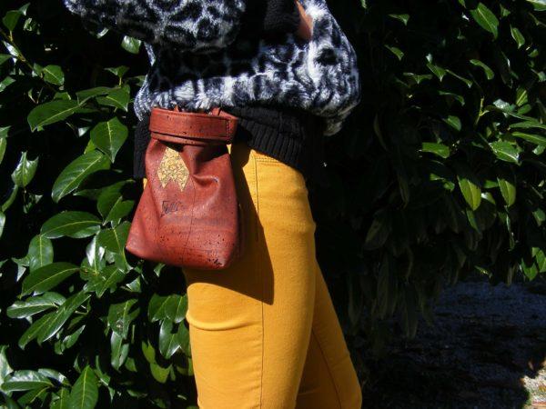 Maroquinerie en liège-vegan-Frénéthik-poche Renard-poche en liège